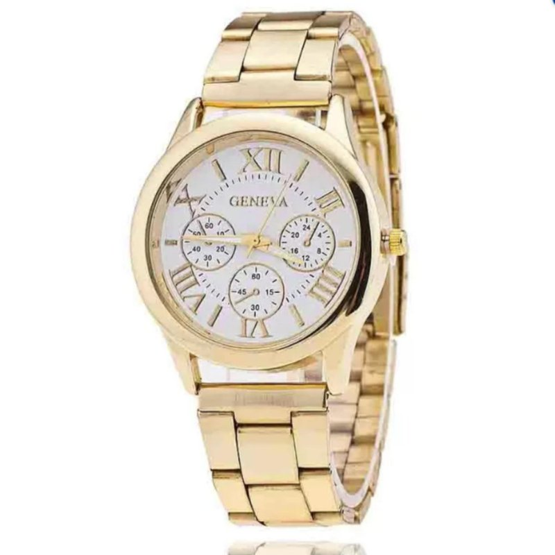 Nơi bán Đồng hồ nam dây hợp kim Geneva GE008-1 (Trắng)