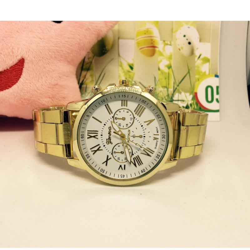 Nơi bán Đồng hồ nam dây hợp kim Geneva (mặt trắng)