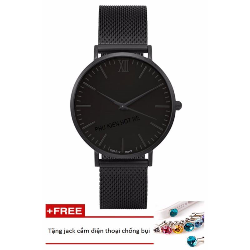 Nơi bán Đồng hồ nam dây da tổng hợp Geneva PKHRGE045-1 (đen)+ Tặng 1 jack chống bụi cho điện thoại