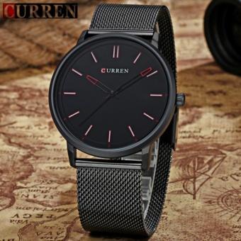Đồng hồ nam dây hợp kim thép Curren8233 màu đen