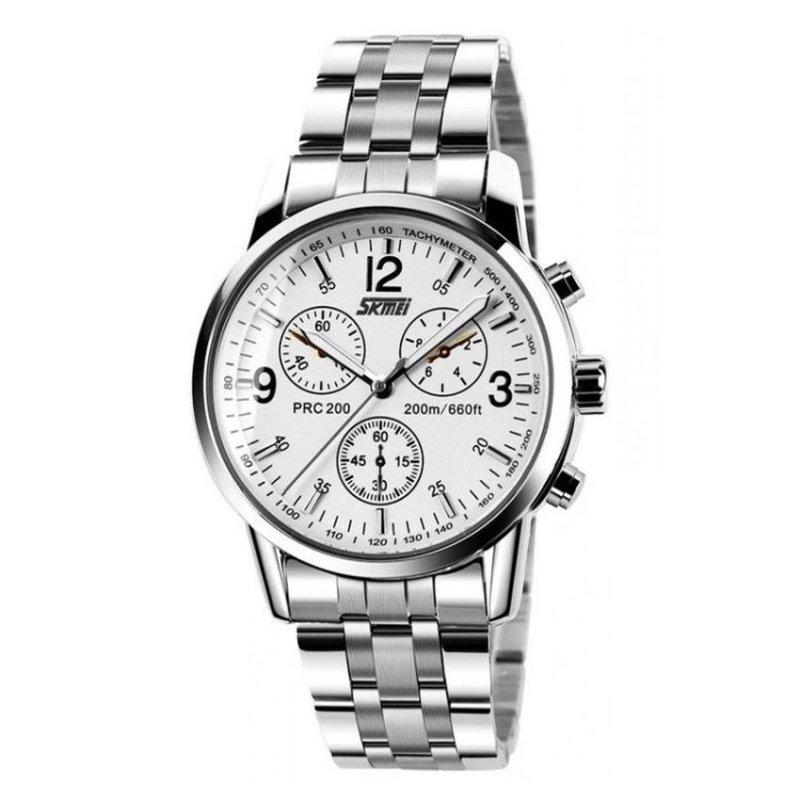 Nơi bán Đồng hồ nam dây inox Skmei 9070 (Bạc)