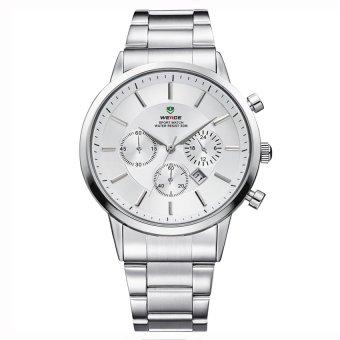 Đồng hồ nam dây kim loại Weide WH3312-2C (Trắng)  Time seller (Tp.HCM)