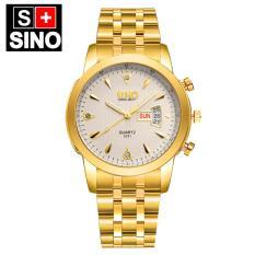 Khuyến Mãi Đồng hồ nam dây thép không gỉ cao cấp SINO Japan 8281 (Mặt Trắng)  Slim1991