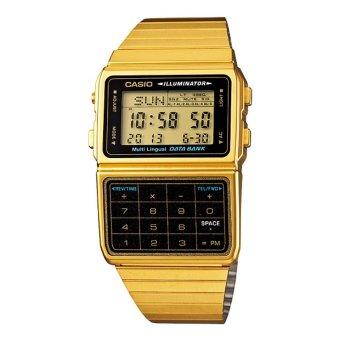 Đồng hồ nam dây thép không gỉ CASIO DBC-611G-1DF (Vàng)