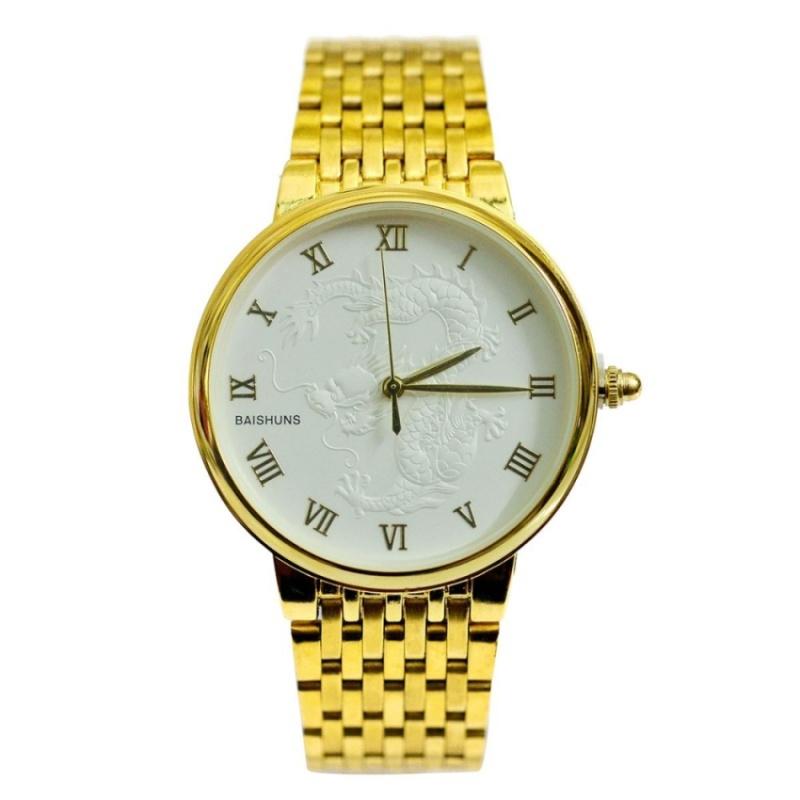 Đồng hồ nam dây thép không gỉ mặt rồng BS002 (Vàng) bán chạy