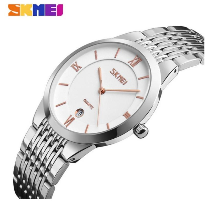 Nơi bán Đồng hồ nam dây thép không gỉ siêu mỏng SKMEI 9139 (trắng-vàng hồng)