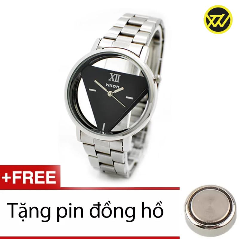 Nơi bán Đồng hồ nam dây thép không gỉ XTW2322 (Mặt đen) + Tặng 1 pin đồng hồ