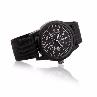 Bảng Giá Đồng hồ nam dây vải SINO JAPAN MOVT 8868 (Dây đen mặt đen)