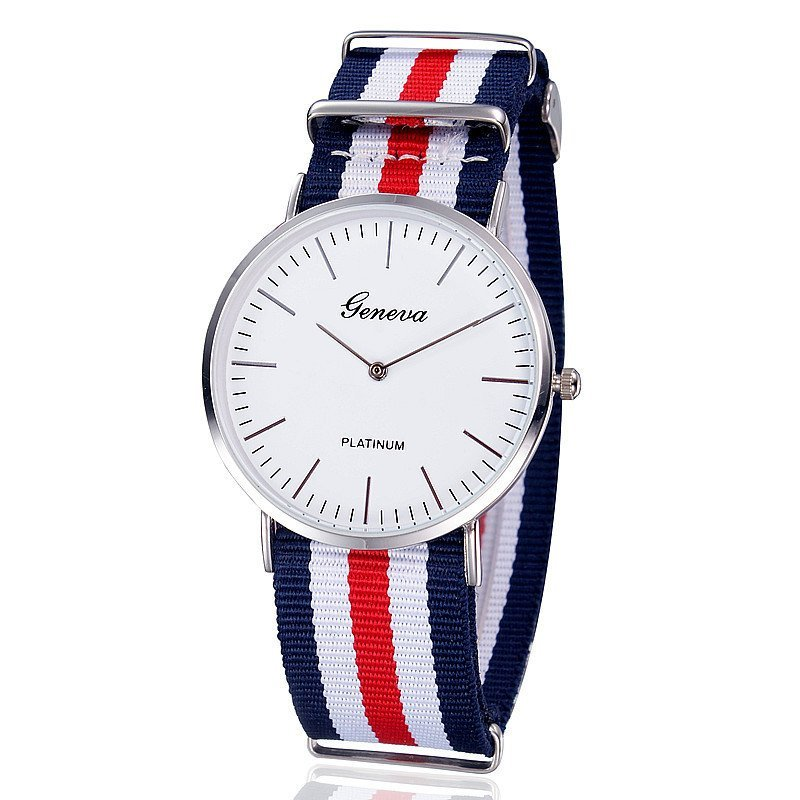 Nơi bán Đồng hồ nam dây vải (Xanh phối đỏ).