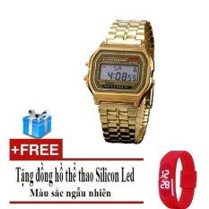 Đồng hồ nam đèn Led dây mạ hợp kim Protab ANCOM GL AC0033VM (Vàng) + Tặng đồng hồ thể thao Led