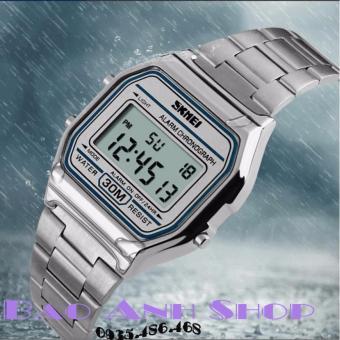 Đồng hồ NAM điện tử Dây kim loại SKMEI N1123 (Bạc)