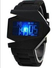 Đồng hồ nam Led dây nhựa WATCH Laptop Ancom (Đen)