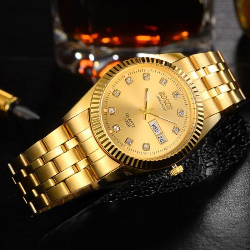 Nơi bán Đồng hồ nam dây thép không gỉ Bosck Japan B02 (Trắng)
