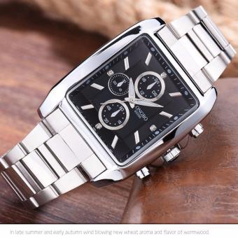 Đồng hồ nam mặt chữ nhật dây ionx chống nước LONGBO 8282L