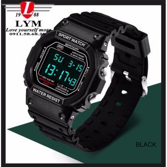 Đồng hồ nam SANDA 07826 dây nhựa dẻo thể thao không thấm nước