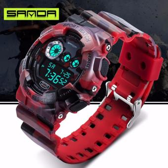 Nơi Bán Đồng hồ nam Sanda điện tử vỏ rằn ri kiểu quân đội chống nước SD01