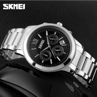 Đồng hồ nam thép không gỉ 6 kim SKMEI 9097 (Đen)