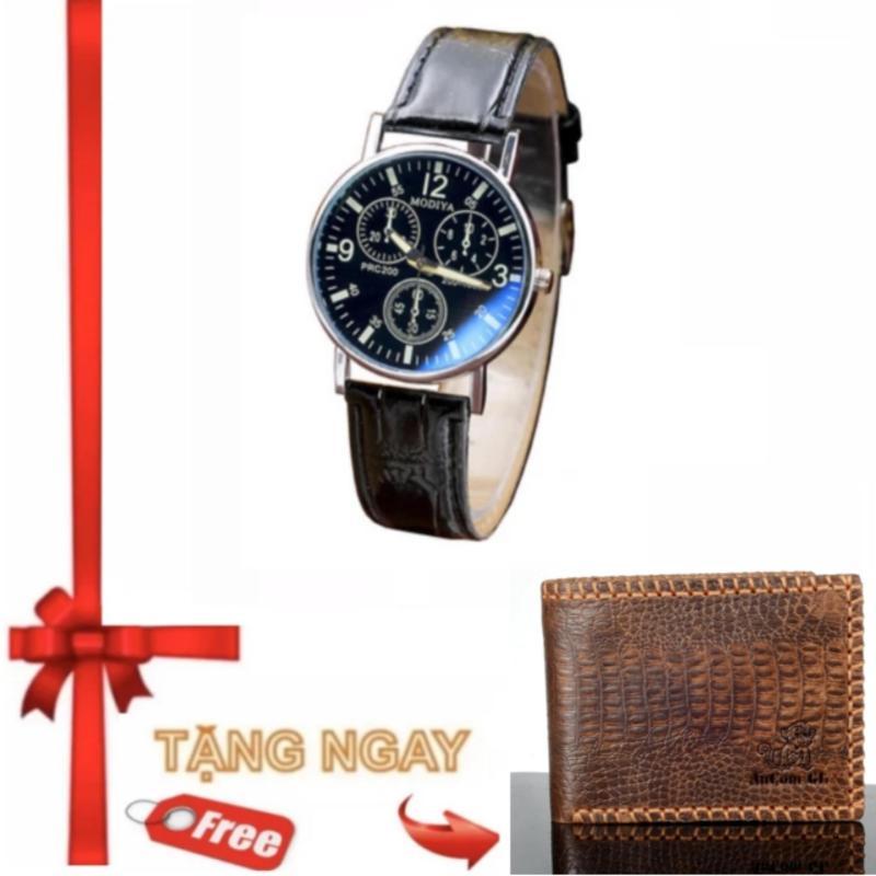 Nơi bán Đồng hồ nam thời trang YZL 721 + Tặng Ví nam da bò thật Ancom GL kiểu ngẫu nhiên da bò
