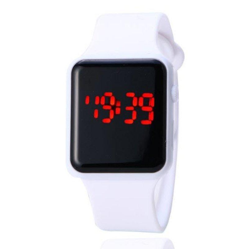 Nơi bán Đồng hồ nữ dây cao su LED cá tính  (Trắng)