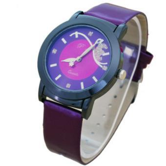 Đồng hồ nữ dây da ADS A-2016 (Tím)