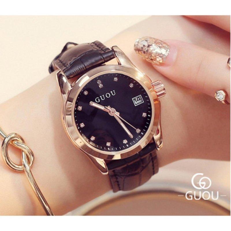 Nơi bán Đồng hồ nữ dây da cao cấp Guou 8076