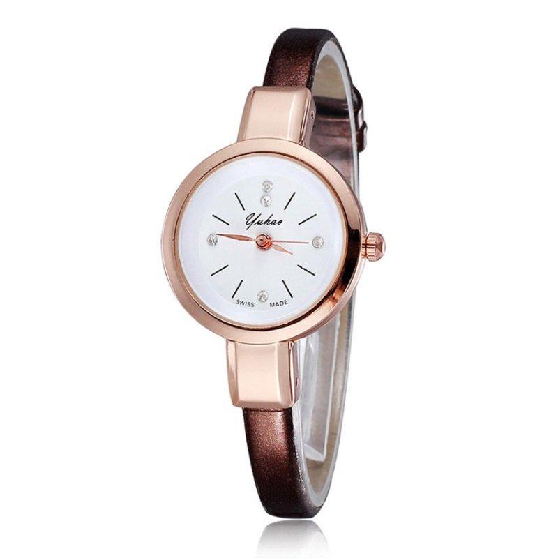 Nơi bán Đồng hồ nữ dây da tổng hợp YUHAO YU003-6 (Trắng)