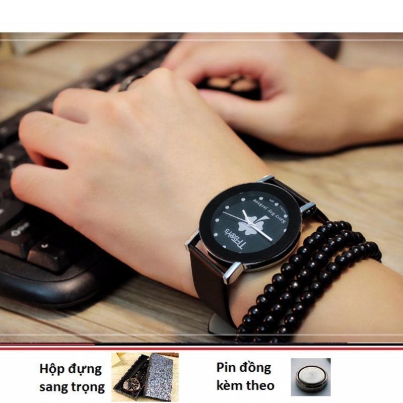 Nơi bán Đồng hồ nữ dây da  Yazole 304 đen mặt nhỡ