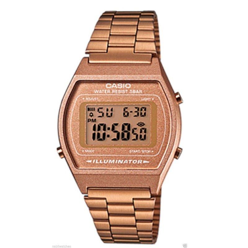 Nơi bán Đồng hồ nữ dây kim loại Casio B640WC-5A Rose Gold (Vàng hồng)