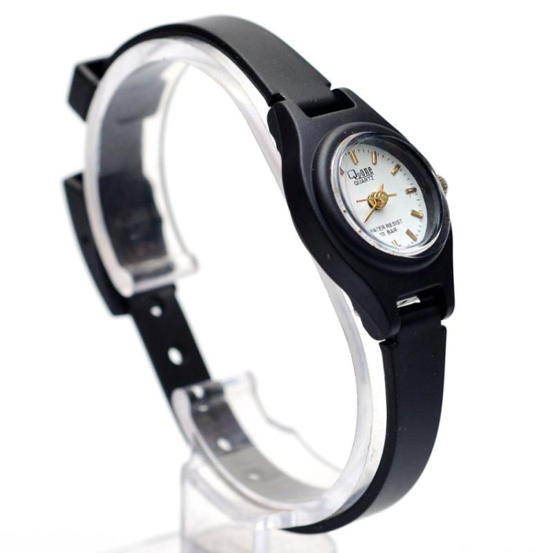 Nơi bán Đồng hồ nữ dây nhựa QPone (mặt trắng, dây đen)