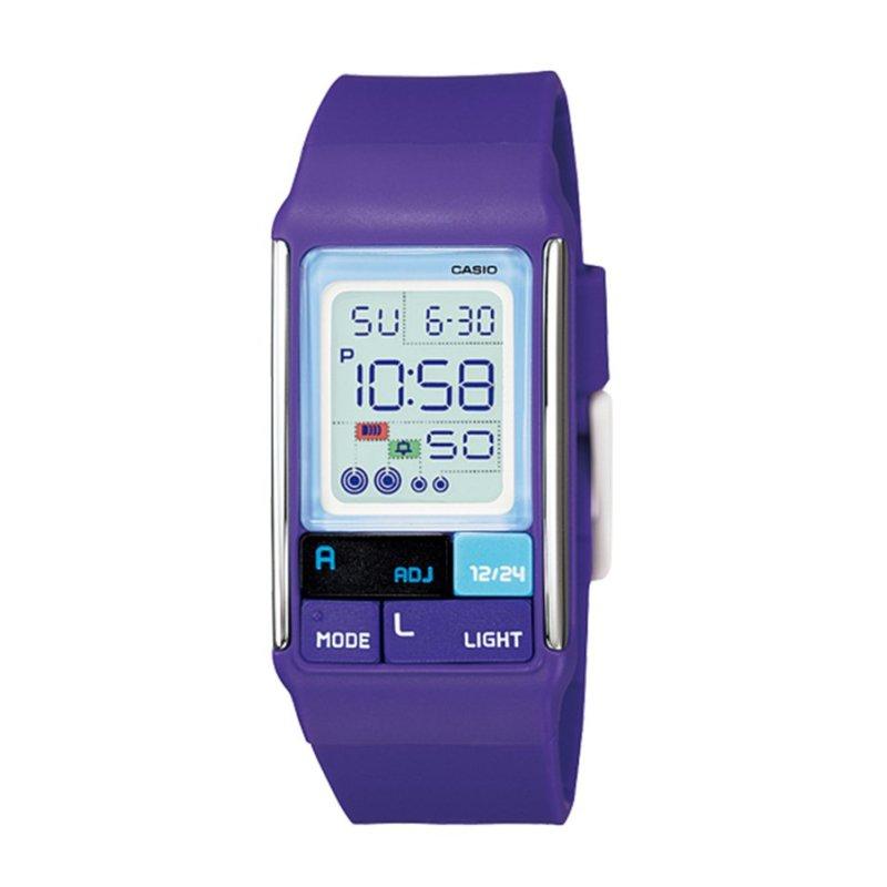 Nơi bán Đồng hồ nữ dây silicon Casio LDF-52-6ADR (Xanh tím)