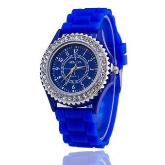 Giá Niêm Yết Đồng hồ nữ dây silicon thời trang Geneva 7249A (Mặt xanh đen)