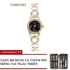Giảm Giá Đồng hồ nữ dây thép đính đá YOHEMEI CH370 – D1A + GD01 + Tặng bộ cắt móng tay ngẫu nhiên  Tini shop