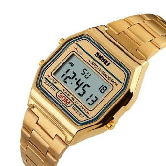 Đồng hồ NỮ điện tử dây kim loại SKMEI DG1123 (Vàng)