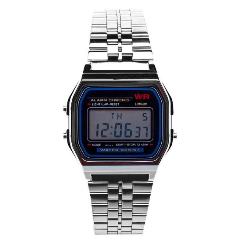 Nơi bán Đồng hồ nữ điện tử dây thép Mã #002 (màu bạc )