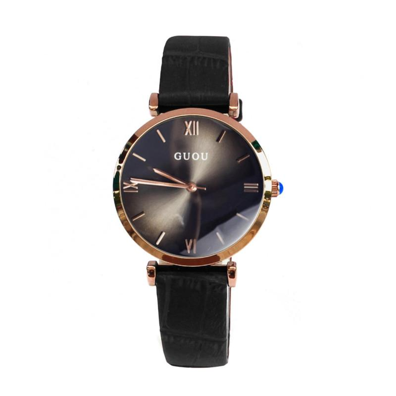 Nơi bán Đồng hồ nữ GUOU dây da CH363 - L1A (Đen)