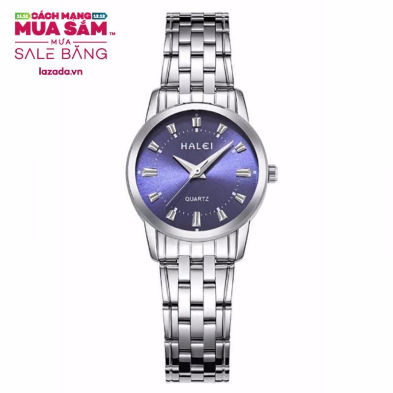 Nơi bán Đồng hồ nữ HALEI dây thép vạch giờ thời trang G02-67