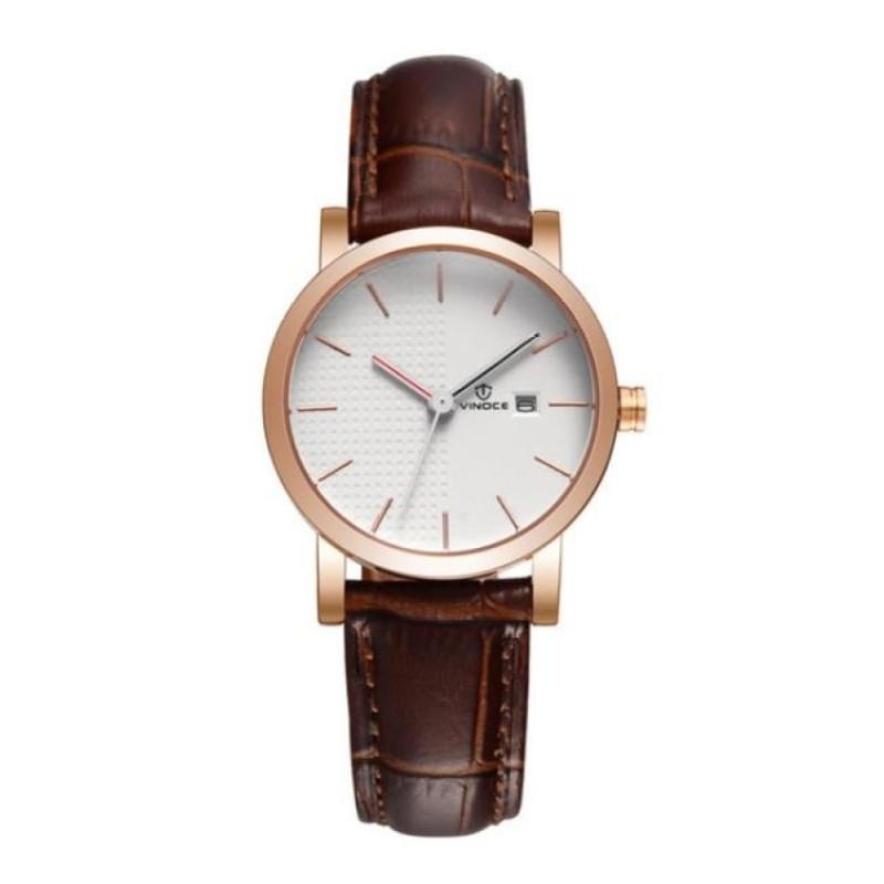 Nơi bán Đồng hồ nữ Vinoce dây da cách điệu kiểu Hàn Quốc CH428 L12 - 7A9V