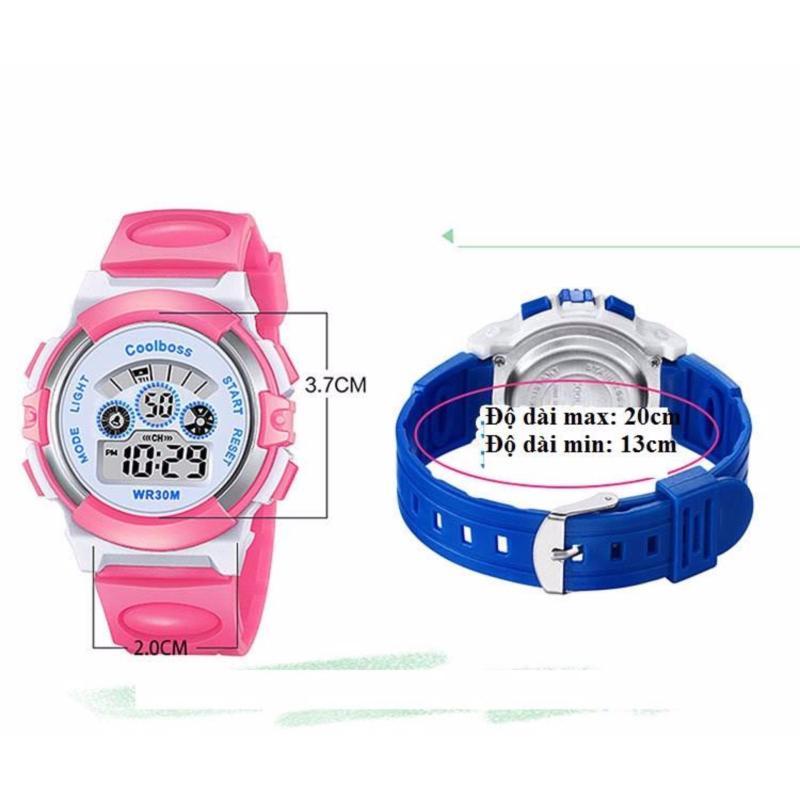 Đồng hồ thế thao bé gái tặng 1 pin ( Màu hồng) bán chạy