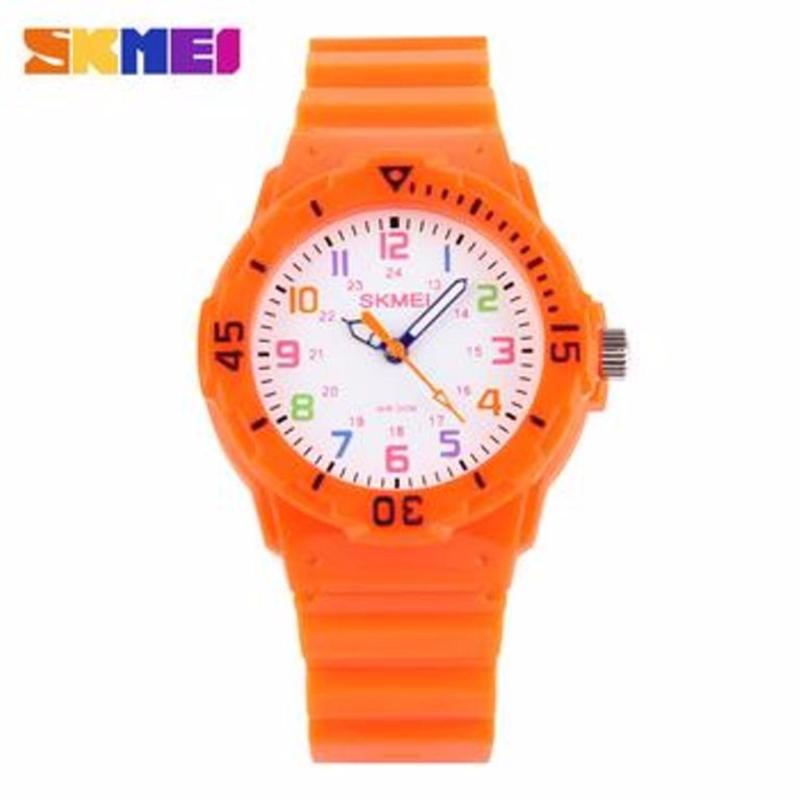 Nơi bán Đồng hồ thể thao chống nước Skmei 1043 đồng hồ cho trẻ em(Cam)