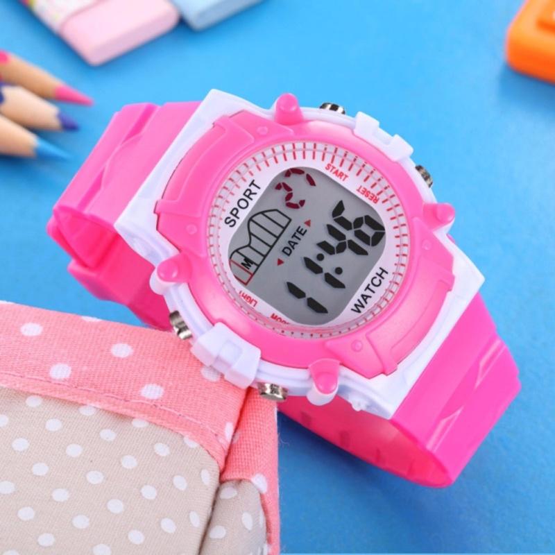 Đồng hồ thể thao dây nhựa trẻ em An Store (Hồng) bán chạy