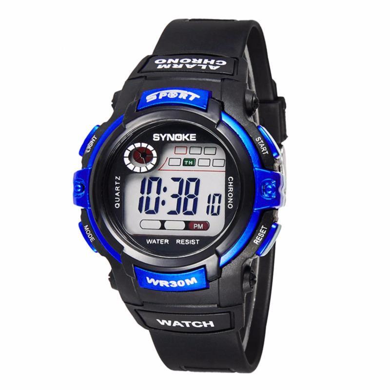 Đồng hồ thể thao trẻ em chống nước Synoke 99569 (Đen phối xanh) bán chạy