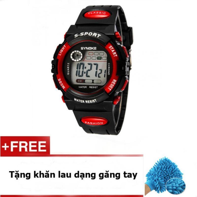 Đồng hồ thể thao trẻ em dây nhựa Synoke  99269 (Đỏ) + quà tặng bán chạy