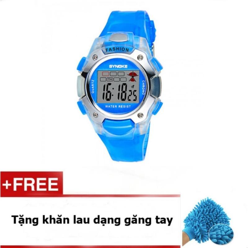 Đồng hồ thể thao trẻ em dây nhựa Synoke  99319 (Xanh) + quà tặng bán chạy