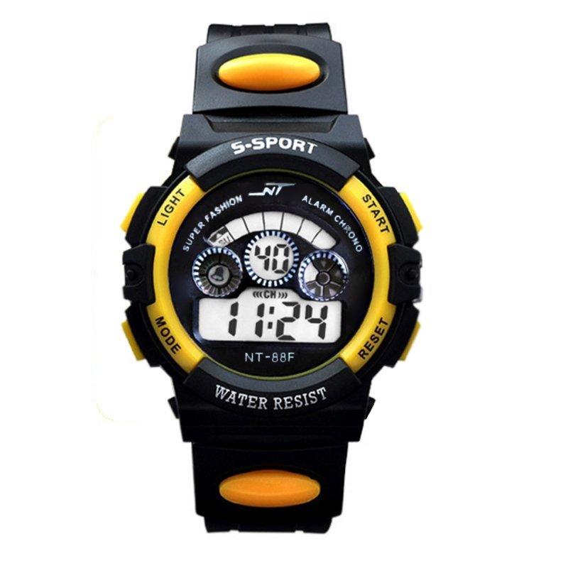 Đồng hồ thể thao trẻ em dây nhựa(Vàng phối đen) bán chạy