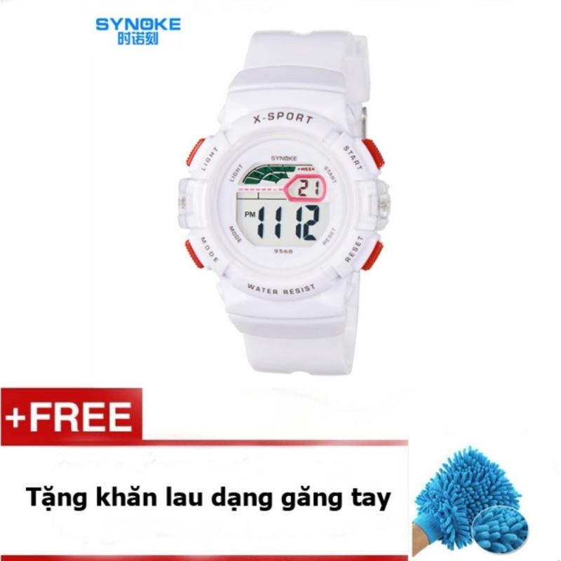 Đồng hồ thể thao trẻ em Synoke 9568 (Trắng) + quà tặng bán chạy