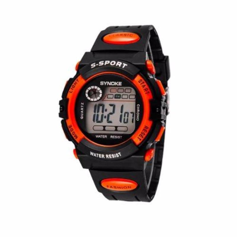 Đồng hồ thể thao trẻ em Synoke 99269 (đen phối cam) bán chạy