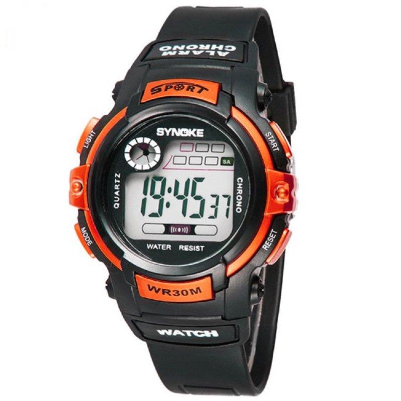 Nơi bán Đồng hồ thể thao trẻ em Synoke 99569 (Đen phối cam)