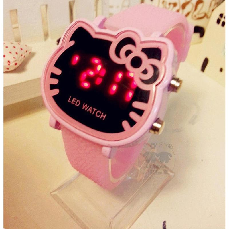 Đồng hồ thời trang bé gái có đèn LED đeo tay , phong cách Hàn Quốc bán chạy