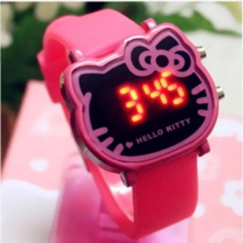 Đồng hồ thời trang bé gái có đèn LED, phong cách Hàn Quốc ( màu hồng thẫm) bán chạy