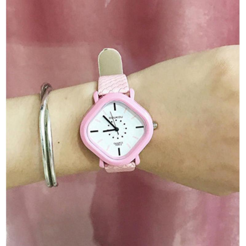 Đồng hồ thời trang dây cao su trẻ em G8987 (Hồng) bán chạy